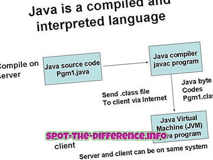 Rozdiel medzi jazykmi Java a .NET