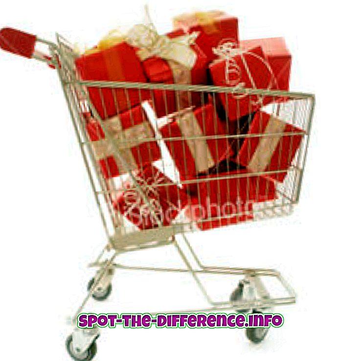 populære sammenligninger: Forskjellen mellom kjøp og kjøp