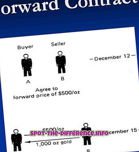 Differenz zwischen Forward- und Futures-Derivaten