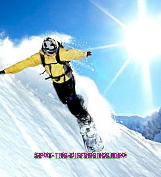 populaarsed võrdlused: Lumelauaga sõitmise ja surfamise erinevus