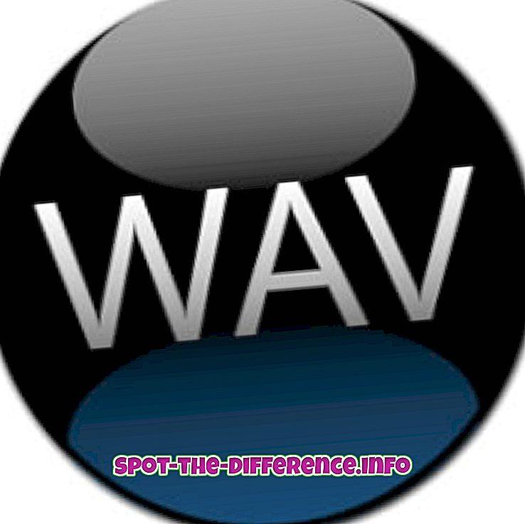 Verschil tussen WAV en MIDI-audiobestandsindeling