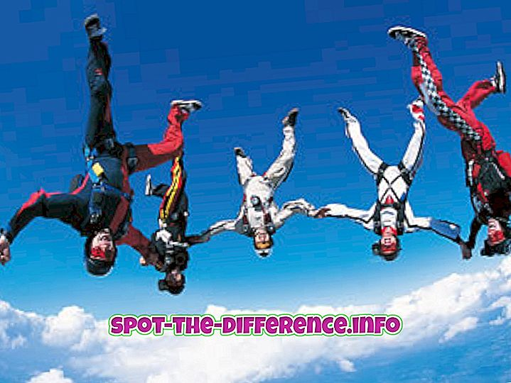 Skidivingi ja paraglidingi vaheline erinevus