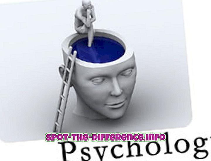 ความแตกต่างระหว่างจิตวิทยาและจิตศาสตร์