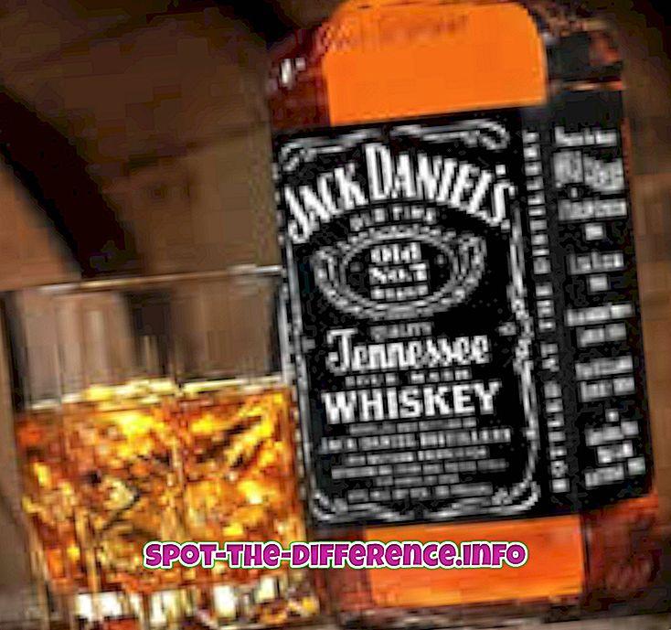 suosittuja vertailuja: Ero Whiskyn, rommin, vodkan, brandyn, skotlannin ja oluen välillä