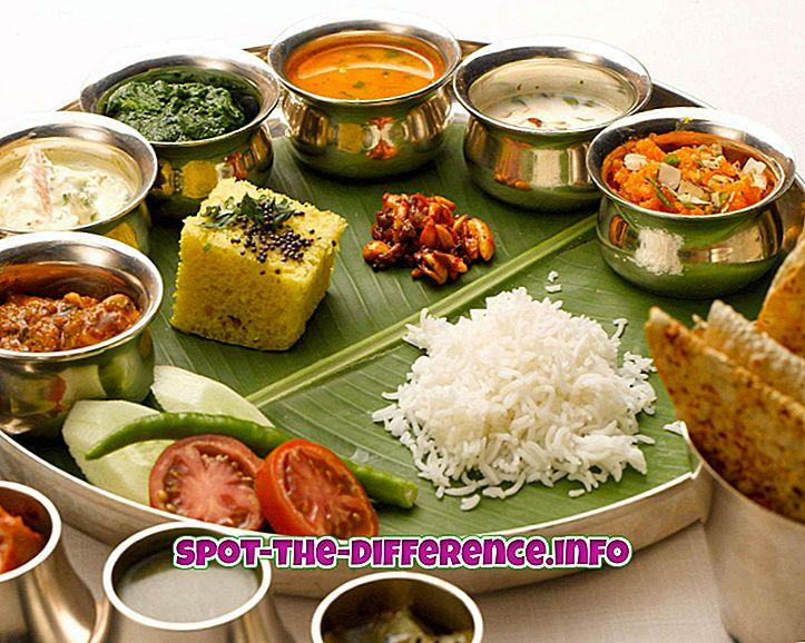 populární srovnání: Rozdíl mezi indickým a kontinentálním jídlem