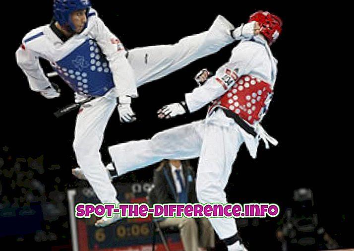 Unterschied zwischen Taekwondo und Aikido