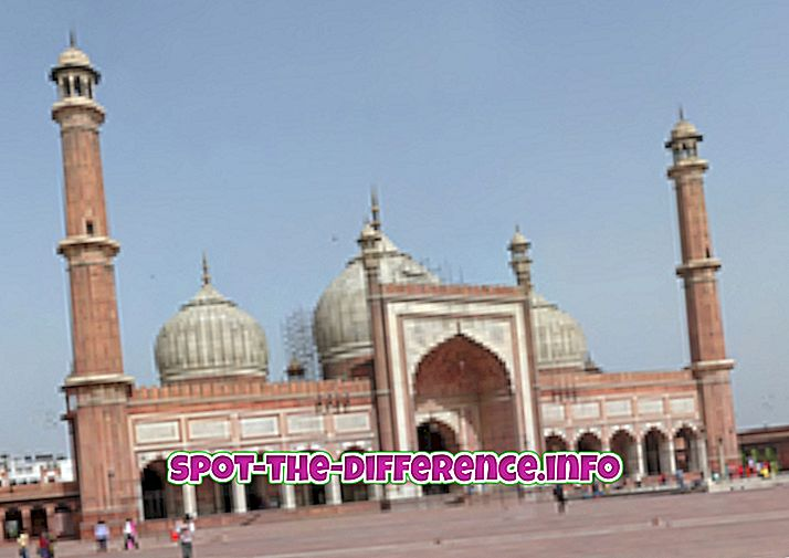 δημοφιλείς συγκρίσεις: Διαφορά μεταξύ Masjid και Dargah