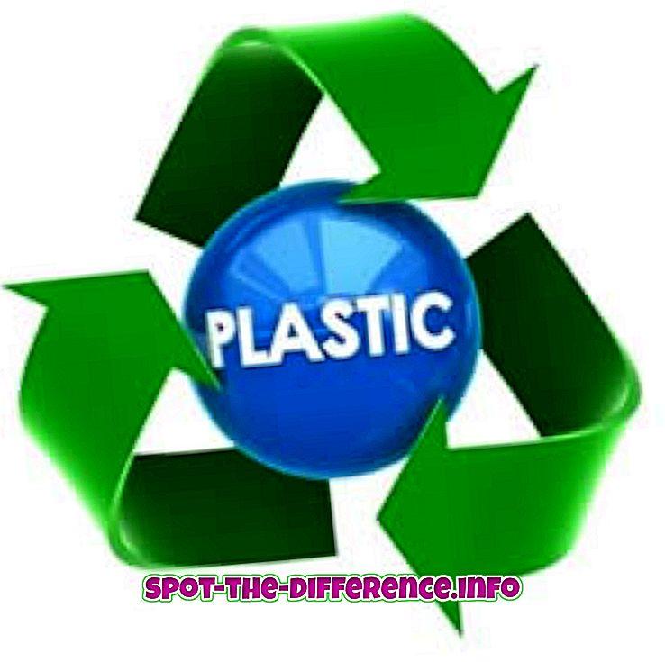 suosittuja vertailuja: Muovin ja kumin välinen ero