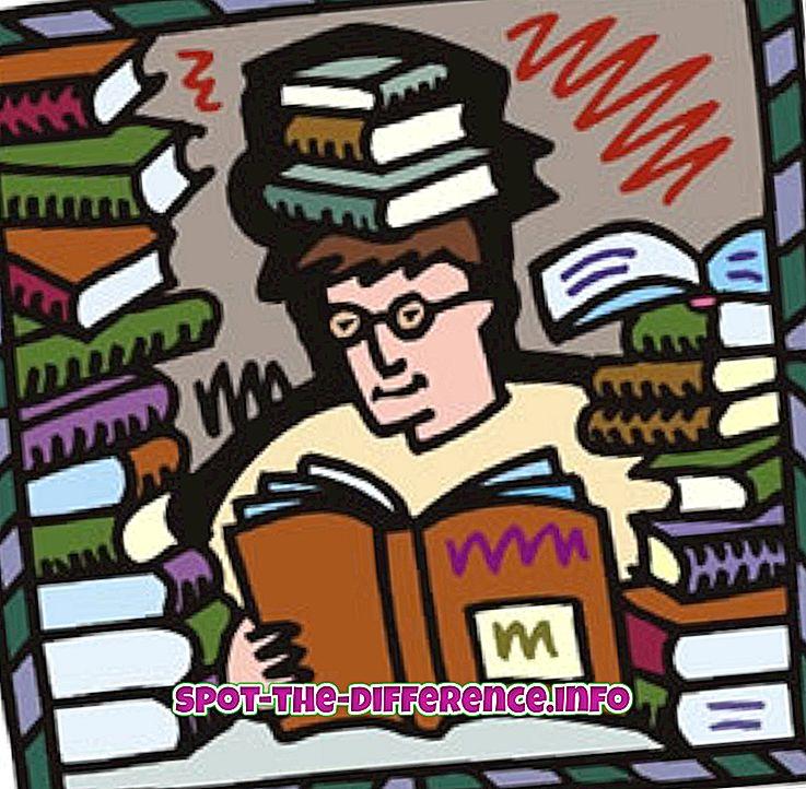 Forskel mellem at studere og læse