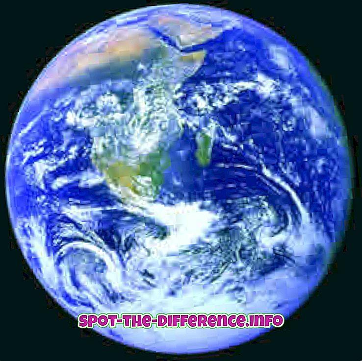 Verschil tussen Aarde en Ster