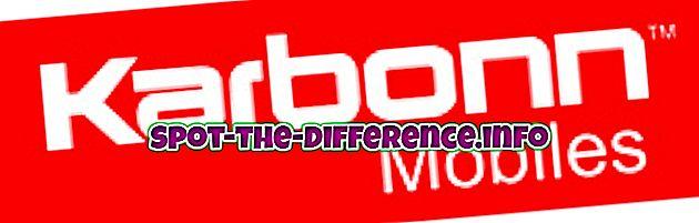 suosittuja vertailuja: Karbonnin ja Micromax Mobilen välinen ero