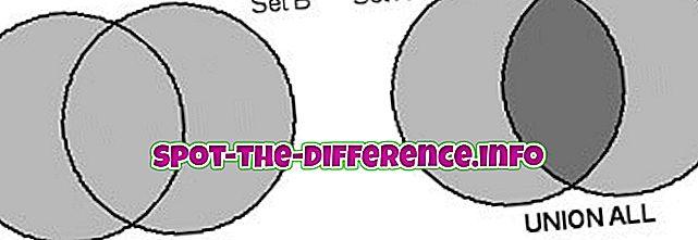 Perbedaan antara Union dan Union All