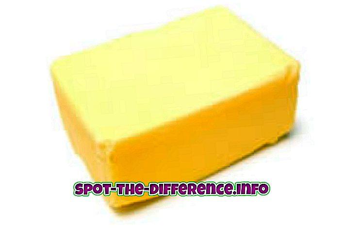 Különbség a vaj és a margarin között