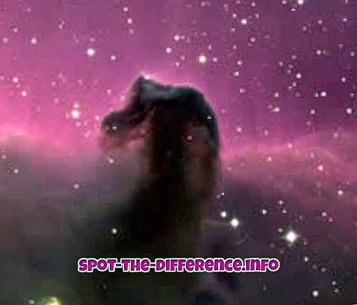 Rozdíl mezi mlhovinou a galaxií