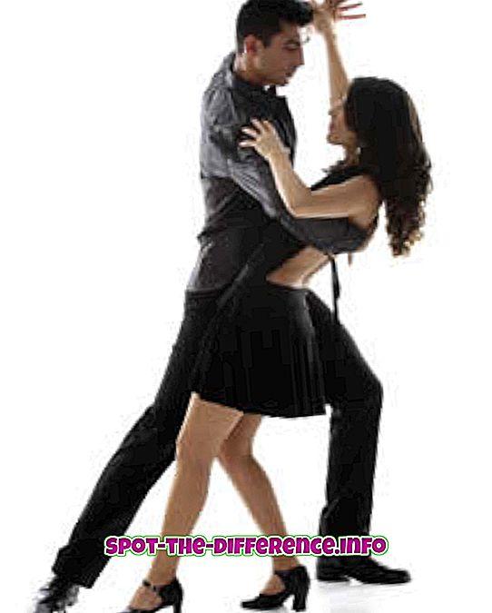 Starp Salsa un Jive Dance atšķirība