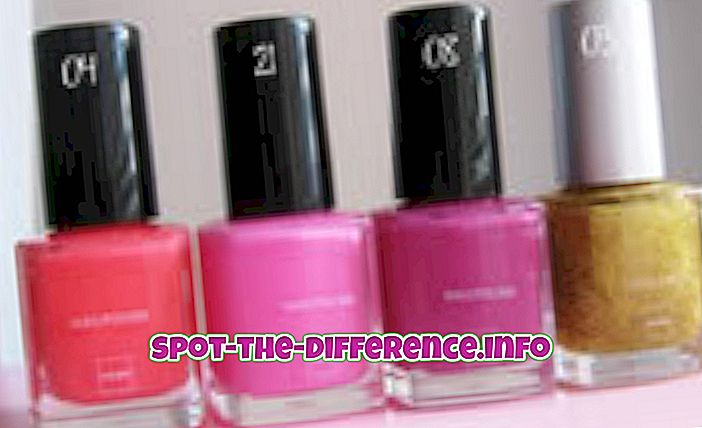 populære sammenligninger: Forskel mellem neglelak og emalje