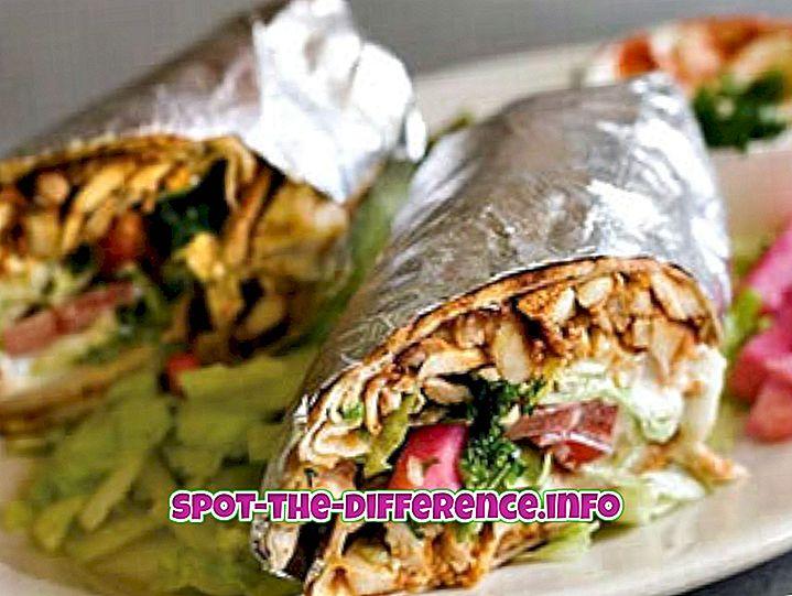 Różnica między Shawarma i Doner