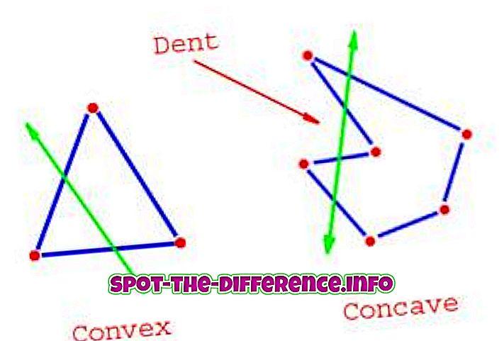 perbandingan populer: Perbedaan antara Cekung dan Cembung Poligon