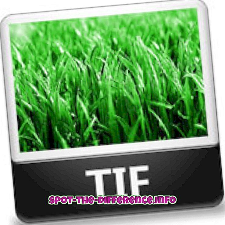 Forskjellen mellom TIF og TIFF