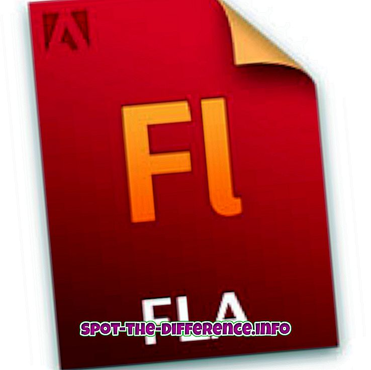 tautas salīdzinājumi: Atšķirība starp FLA un SWF