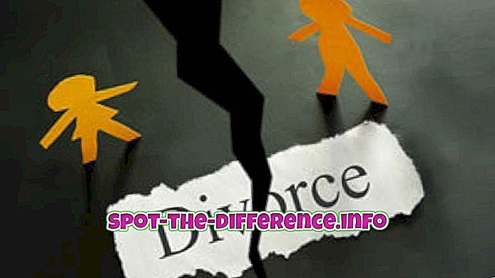 comparații populare: Diferența dintre divorț și anulare
