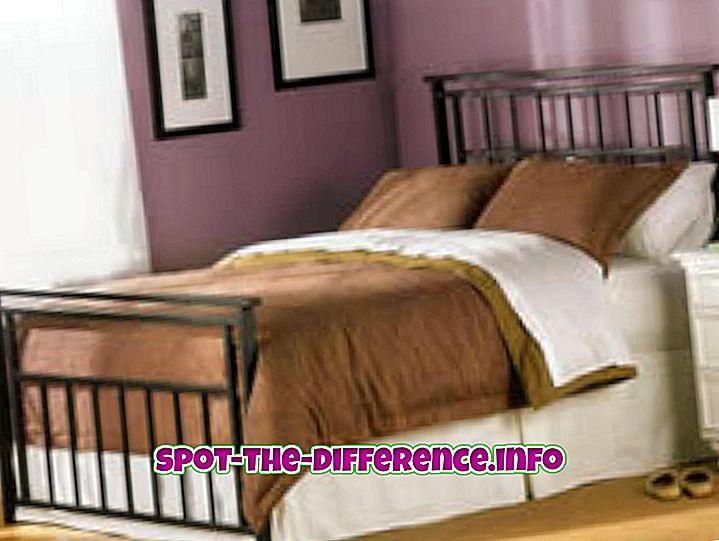 Starp pilno gultu un divvietīgu gultu