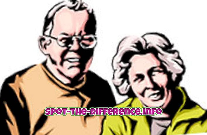 confronti popolari: Differenza tra anziani e anziani
