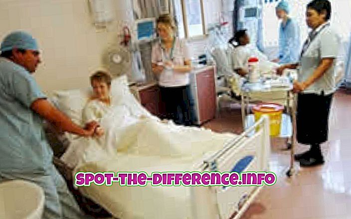 populære sammenligninger: Forskjellen mellom sykehus og sykehjem