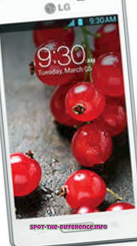 populaarsed võrdlused: Erinevus LG Optimus L5 II ja LG Optimus L5 II Dual vahel