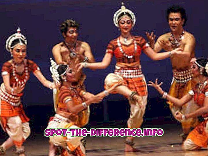 confronti popolari: Differenza tra danza popolare e classica