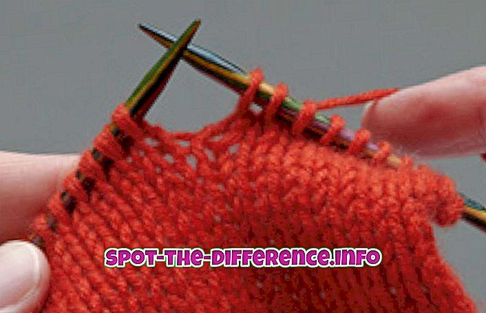 人気の比較: 編み物とかぎ針編みの違い