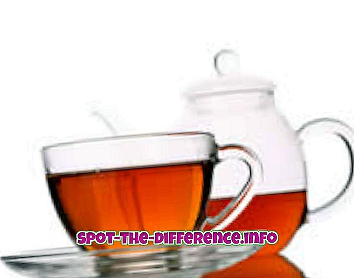 populaire vergelijkingen: Verschil tussen zwarte thee en groene thee