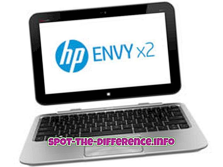 popularne usporedbe: Razlika između HP Envy X2 i Sony Xperia Z Tab