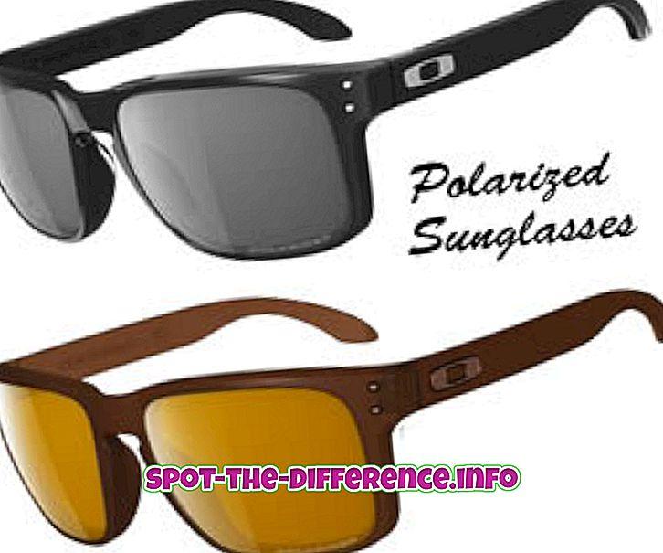 populaire vergelijkingen: Verschil tussen gepolariseerde en normale zonnebril