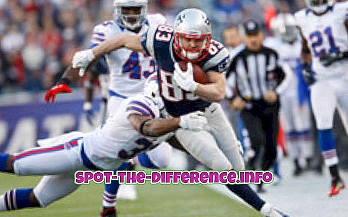 populære sammenligninger: Forskjellen mellom NFL og CFL