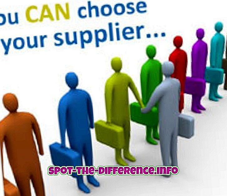 beliebte Vergleiche: Unterschied zwischen Lieferant und Lieferant