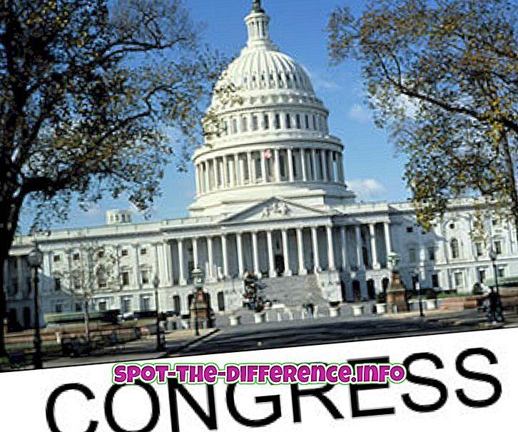 populaarsed võrdlused: Kongressi ja senati vaheline erinevus