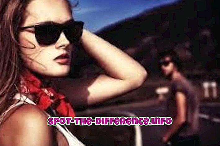 popularne porównania: Różnica między okularami przeciwsłonecznymi a lotnikami