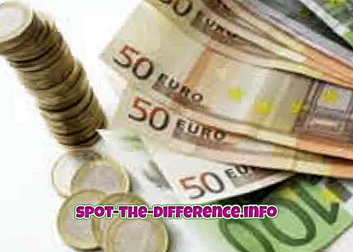 populárne porovnania: Rozdiel medzi menou euro a libra