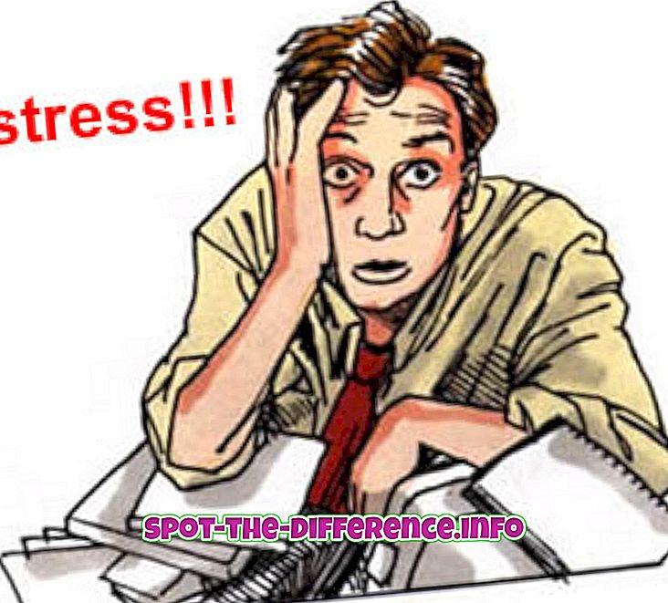Разлика између стреса и напетости