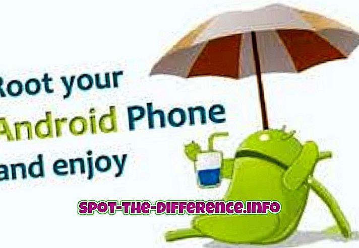 perbandingan populer: Perbedaan antara Telepon Android Berakar dan Tanpa Root
