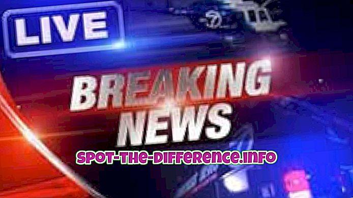 Breaking News ja Flash News vaheline erinevus