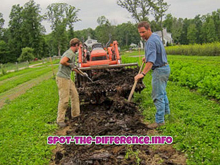 Forskel mellem økologisk og kemisk landbrug