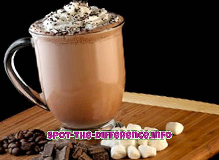 Erinevus Cappuccino ja Mocha vahel