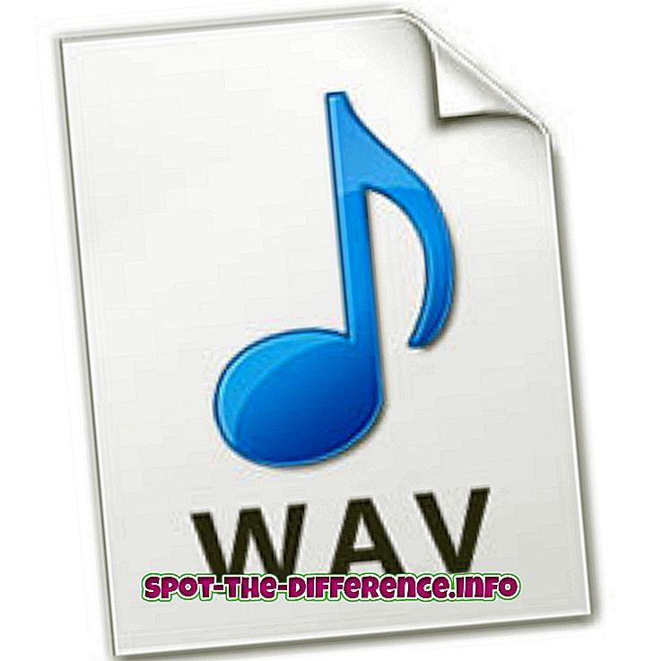 Atšķirība starp WAV un AIFF audio failu formātu