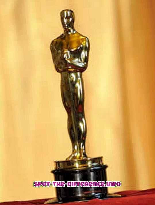 Het verschil tussen Oscar en Emmy Award