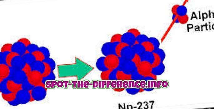 populaarsed võrdlused: Radioaktiivse lagunemise ja transmutatsiooni erinevus