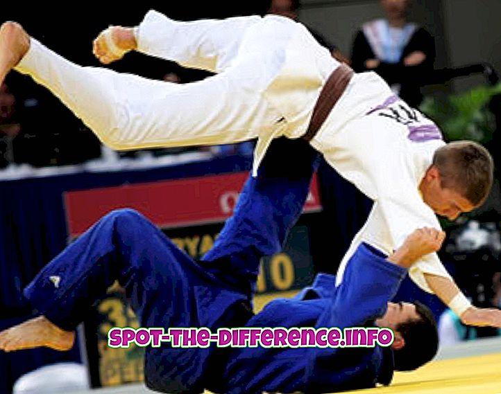 Judo ja Taekwondo vaheline erinevus