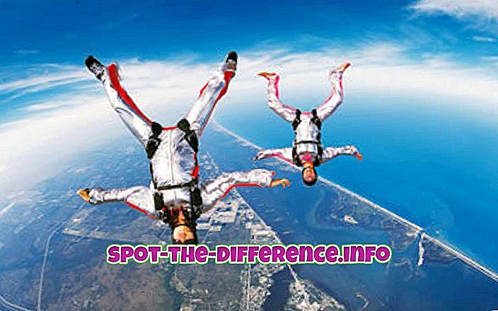 스카이 다이빙과베이스 점핑의 차이점