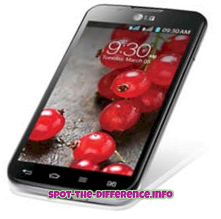 Erinevus LG Optimus L7 II Dual ja Sony Xperia P vahel